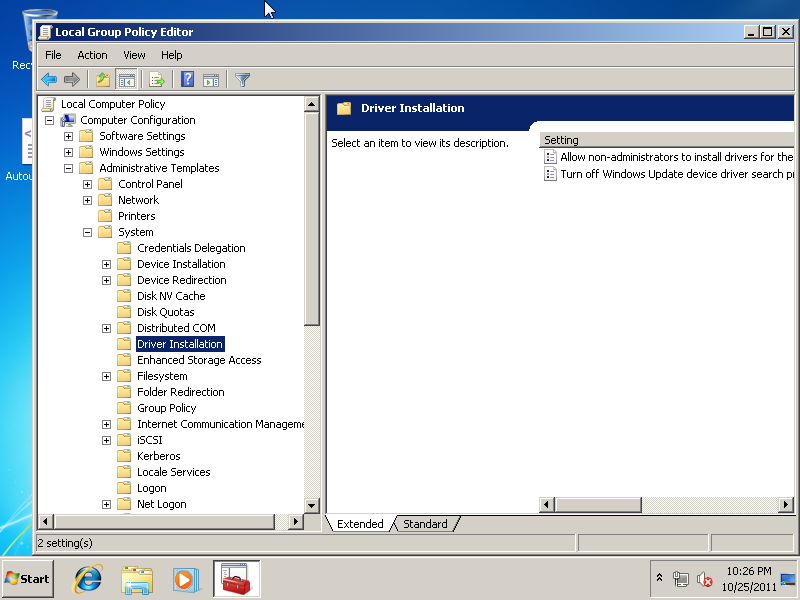Install Drivers: Group Policy Install Drivers