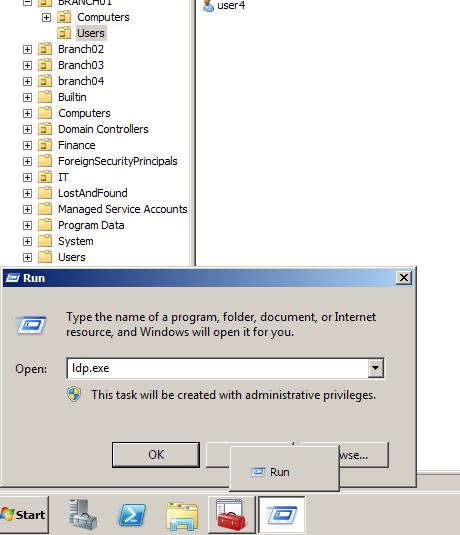 Recover Active Directory Deleted Items Using LDP.EXE