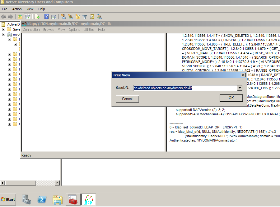 Recover Active Directory Deleted Items Using LDP EXE